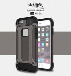 Wholesale Steel Phone Cases - for iPhone X 5 5s 6 6s 7 Plus 8 Plus Steel armor TPU PC Cell Phone Protective Case Cover