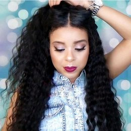 Wholesale Curly Remy Hair For Sale - Hot Sale 7A 4x4 Silk Base Full Lace Wigs 100% Brazilian Virgin Remy Human Hair Wigs Lace Front Wigs For Black Women