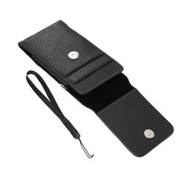 cell phone case belt clip Coupons - Lychee PU Leather Flip Pouch Phone Case for 4.7'' 5.1'' 5.5'' 6.3'' Cell Phones Rotatable Clip Card Fanny Pack Small Belt Bags Purse Pocket