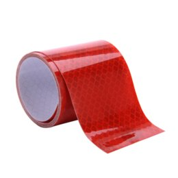 Wholesale Color Vinyl Tape - 5cmx1m Mark PET Reflective Safety tape stickers car-styling Self Adhesive Warning Tape Automobiles Motorcycle Reflective Film