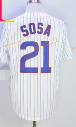 Wholesale Order Jersey Cheap - 2017 Cheap Official Cool Base Stitched Chicago #21 sammy sosa White BLue Gray Baseball Jerseys Mix Order