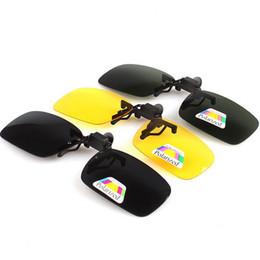 Wholesale Clip Flip Up Glasses - Wholesale-High quality Polarized Clip On sunglasses Driving Night Vision Lens sun glasses Anti-UV For Women & Men flip up oculos