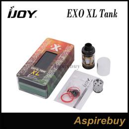 Wholesale Tanks For E Cigs - IJOY EXO XL Tank EXO XL Sub ohm 5ml 26mm Diameter Atomizer With XL-C2 Coil & XL-C4 Coil For 510 Thread Box Mods E Cigs 100% Original