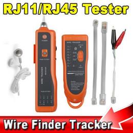 Wholesale Telephone Toner - New RJ11 RJ45 Cat5 Cat6 Telephone Wire Tracker Tracer Diagnose Toner Ethernet LAN Network Tool Cable Tester Detector Line Finder