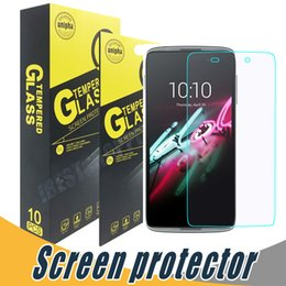 Wholesale Touch Screen Protectors Films - Tempered Glass Screen Protector 9H 2.5D Film Anti Scratch For Alcatel C3 C5 C7 One Touch Conquest Elevate Pop Astro stellar tru