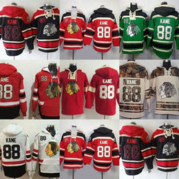 Wholesale Mixed Hoodies - Hot Sale Mens Chicago Blackhawks 88 Patrick Kane Best Quality Cheap Ice Hockey Hoodies Accept Mix Order Size S-3XL