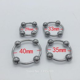 Wholesale Stainless Penis Beads - 2016 glans ring, stainless steel penis ring,Four beads cock ring,male chastity device,penis sleeve,cockring,cock cage
