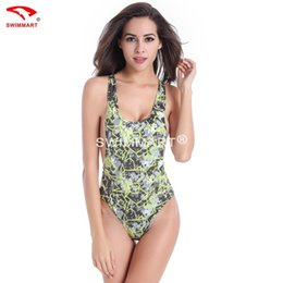 Wholesale Wetsuit Swimsuit - Super sexy swimsuit backless wetsuit High fork triangle conjoined printing straps swimsuit
