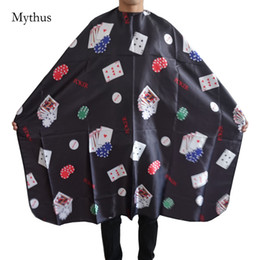 Argentina Patterm Poker Profesional Salon Styling Hair Cape, Barber Cutting Perming Coloring Hair Tools Anti-Chemical Hairdressing Cape cheap hair coloring Suministro