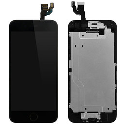 Wholesale Button Frames - New LCD Touch Screen Replacement With Frame For iPhone 6 4.7 Inch Digitizer Display Full Assembly with Home Button Camera Free Tool