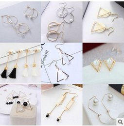 Wholesale Dating Beautiful Women - Hot Selling High Quality Earrings For Women New Supplies Fashion Jewelry Charm Stud Earrings 50pairs lot Beautiful Christmas gift