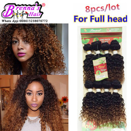 Wholesale Short Curly Hair Piece - 8pcs lot unprocessed virgin black afro kinky curly natrual brazilian hair weave short ombre hair human weave jerry curly hair bundles uk