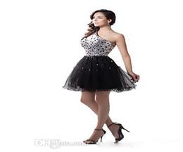Pizzo paillettes Prom Dresses 2017 New Cocktail Dress Sparkling Crystal Beaded Minigonna Sexy Spalla vestito laurea Graduazione da vestiti da cocktail spalla a tulle fornitori