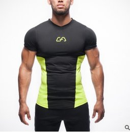 Wholesale V Neck Compression Shirt - New 2017 man tshirts Compression Shirt Captain America Iron man Fit Tight Gym Bodybuilding T Shirt
