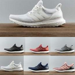 Wholesale Collection Cotton - New All White Ultra boost 3.0 Sneakers Men Footwear Triple White Women black Running Shoes Sports Shoes UB3.0 Collection