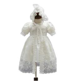 robes de baptême européenne bébé fille Promotion 3 pièces! grosses soldes! haute qualité mode nouveau-nés filles s'habillent bébé fille de baptême robe de mariée filles robe de mariée en dentelle
