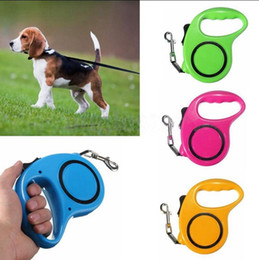 Wholesale Wholesale Retractable Leashes - Retractable Dog Leash Flexible Dog Leashes 3M 5M Traction Rope Extending Puppy Pet Walking Leads Leash OOA2292