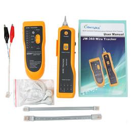 2019 herramientas de cableado telefonico Nueva JW-360 Cat5 Cat6 RJ45 UTP STP Buscador de línea Teléfono Wire Tracker Tracer Diagnostica Kit de herramientas de tono LAN Network Cable Tester rebajas herramientas de cableado telefonico