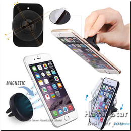 Wholesale Universal Sellers - Car Mount Air Vent Magnetic Universal Cell Phone Holder For Moblie Phone iPhone 6S 7 Plus One Step Mounting best seller