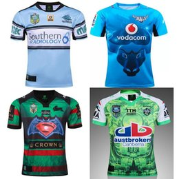 Wholesale Australia Free - Best quality New 2016 Cronulla Sharks rugby jerseys Zealand 2016 2017 men best Australia league rugby shirts SIZE S-2XL free shipping