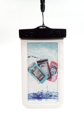 Wholesale Iphone Waterproof Case Clip - Transparent Clear Universal Waterproof Cell Phone Case Dry Bag Dust Dirt Proof Snowproof Pouch for iPhone huawei samsung up to 5.5 inches