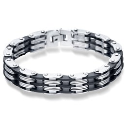Wholesale Strand Link - Stainless Steel Bracelet & Bangle 220mm Men's Jewelry Strand Rope Charm Chain Wristband Men's Bracelet