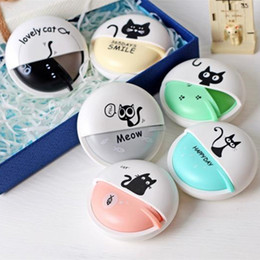 Wholesale Mp4 Cases - Cute Cat Macarons 3.5mm in-ear Stereo Earphones with Earphone Case for Phone Xiaomi Girls Kid Child Student for MP3 MP4 Gift