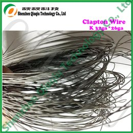 Wholesale Electronic Cigarette Christmas - Wholesale- Free shipping Cheapest Christmas promotion gift New Electrical heating K Clapton wires 32ga*26ga for electronic cigarette