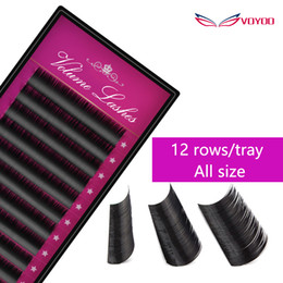 Wholesale Eyelash Extension D Curl - VOLYOO 0.05-0.15 Thickness B C D Curl 3d Eyelash Extension,Natural Lashes Extension for Professionals,Volume Eyelash Extension