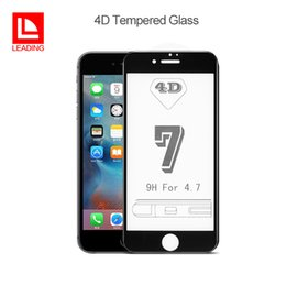Wholesale quality 3d glasses - Top Quality 4D Curved Tempered Glass For iPhone 6 6s 6plus 6s plus 7 7plus Film Screen Protector 9H Hardness Free DHL