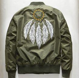 2019 giacca ad aria calda Hot Air force Bomber Kanye West Hip Hop Giacca sportiva da uomo con cappuccio verde militare Giacca a vento militare Hiphop Air Force Flight Cappotti da uomo giacca ad aria calda economici