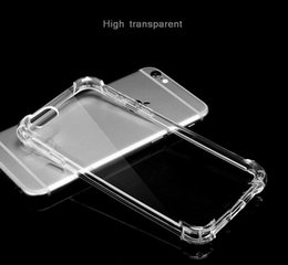 Wholesale A3 Bags - soft TPU case clear phone case with air bag shockproof protection for iphone X 5s 6s 7 7plus 8 8plus for Samsung S8 plus s7 edge A3 A5 A7 C9