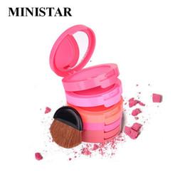 Wholesale Makeup Blusher Products - MINISTAR Brand fashion Colors 5 Colors Makeup Blush Face Blusher Powder Palette Cosmetics Professional Makeup Product