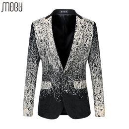 Wholesale Terno Plus Size Masculino - Wholesale- Fashion 2016 New Arrive Men Blazer Floral Suit Personality Casual Blazer Men Slim Fit Jacket Men Plus Size 6XL Terno Masculino
