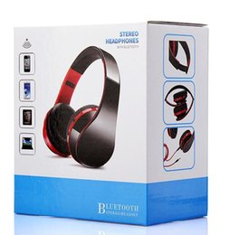 Wholesale Wireless Bluetooth Headphones Stereo Foldable - 1PCS NX-8252 Foldable wireless headphone bluetooth headset sports running stereo with microphone subwoofer V4.0+EDR with retail package