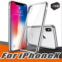 Wholesale Bumper Case Scratches Iphone - For S9 iPhone X 8 7 Plus Case Ultra Thin Shock Absorption Bumper Silicone Plating TPU Soft Flexible Anti Scratch Protective Cases Cover