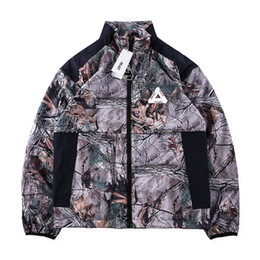 Wholesale Top Quality Ski Jackets - Palace Zip Off Shell Top Jacket Men's Printing Filed Jacket High Quality Windbreaker Jackets Camping Skiing Coat Outwear PXG0905