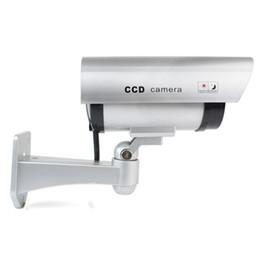 Wholesale Camera False - CA-11A Security silver CCTV False Outdoor CCD Camera Red LED Light Dummy Camera new dummy 180 degree viewing angle cctv camera TA