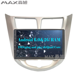 Wholesale Car Stereo Tv Hyundai - Android 6.0 Ram 2G Car gps navigation for Hyundai Solaris Verna Accent Car dvd radio video player wifi BT free map
