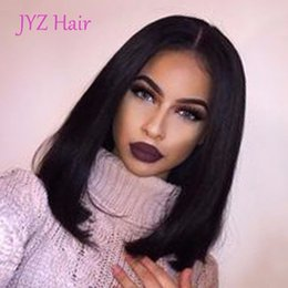 Wholesale Indian Short Full Lace Wig - Free Drop Shipping Human Hair Lace Front Wig Brazilian Indian Malaysian Peruvian Virgin Hair Full Lace Wig Human Hair Short Bob Wigs