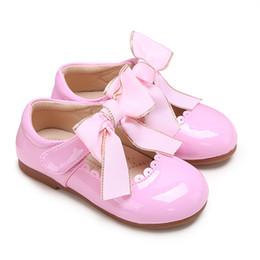 Porter des chaussures en Ligne-Pettigirl Pink Infant Toddler Chaussures Pour Bébés Filles Microfibre En Cuir Chaussures En PU Pour Enfants Fête Porter (Sans Boîte À Chaussures)