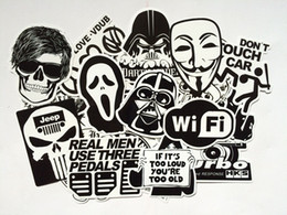 Wholesale Cool Motorcycle Stickers Decals - 100pcs Cool Different Styles Supersticker Laptop Stickers Car Stickers Motorcycle Bicycle Luggage Decal Graffiti Patches Skateboard Stickers