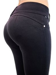 Wholesale Push Pencil - 7 Colors Women Low Waist Leggings Sexy Hip Push Up Elastic Pants ,Fitness Jegging Pencil Pants Skinny Slim Leggings for Ladies