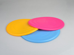 Wholesale Large Frisbee Disc - 100pcs lot 17.5cm Dog Frisbee Soft Flying Flexible Disc Tooth Resistant Outdoor Large Dog Puppy Pets Training Fetch Toy