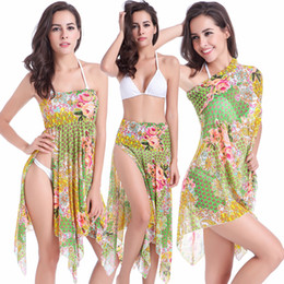 Vestido de ropa de playa cubrir falda online-SWIMMART 2017 Nuevas Mujeres Sexy bikini beach skirt envuelto junto al mar Bikini Cover Up Swimsuit Beachwear Swim dress VB010