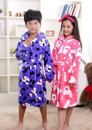 Wholesale Chinese Kids Wear - New Arrivals Flannel Children's Bathrobes Kids Winter Spring Home Wear One Piece Pajamas Boy Girl peignoir enfant Gown Robes