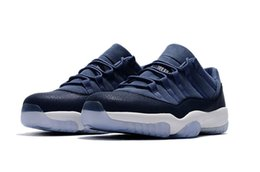 Wholesale Moon Cycles - New Air Retro 11 XI men Basketball Shoes Low GS Blue Moon 11s Low Midnight Navy high quality Sneaker Sport Shoes eur 40-47