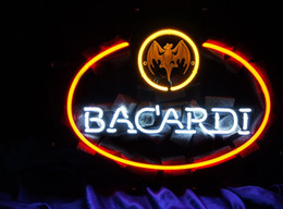 neon beer signs Promo Codes - New Tat tire Neon Beer Sign Bar Sign Real Glass Neon Light Beer Sign ME 308- Bacardi 17*14 inches