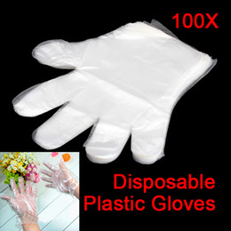 Wholesale Disposable Rubber Glove - 100pcs Disposable Glove PE Garden Home BBQ Plastic Multifuction Gloves