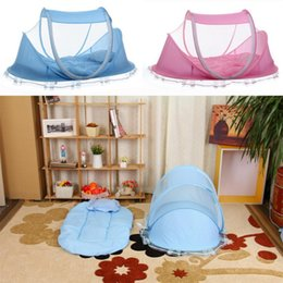 Wholesale Sleep Crib - 0-36 Months Baby Bed Portable Foldable Baby Crib With Netting Newborn Sleep Bed Travel Bed Mosquito Net Baby Bedding